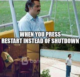 Press restart memes